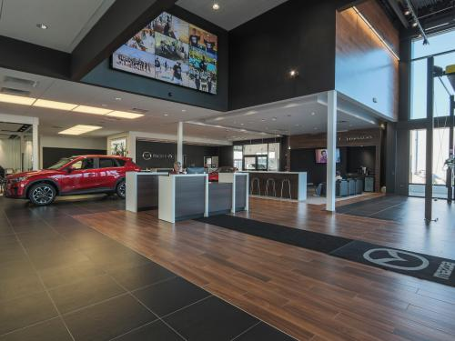 Wilkins Mazda interior showroom welcome desk left side