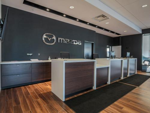 Wilkins Mazda interior showroom payment information desk