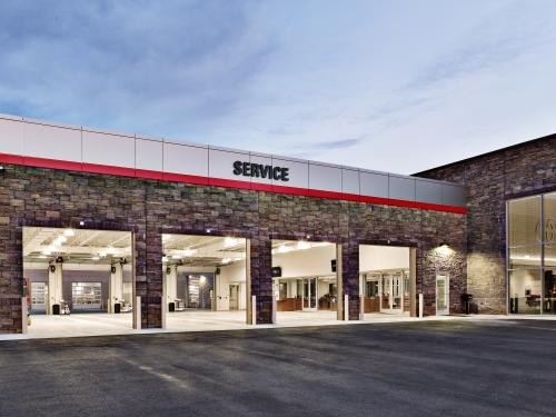 Beaver Toyota Exterior service drive and shop