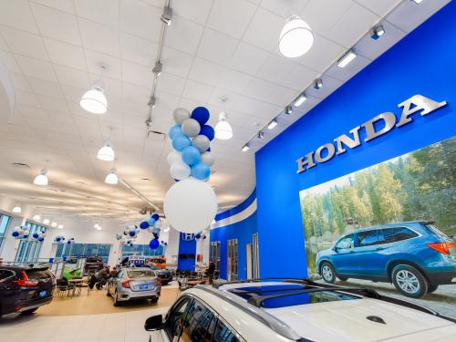 Ray Price Honda Gen 3 Image Haworth Showroom with Back Honda Wall