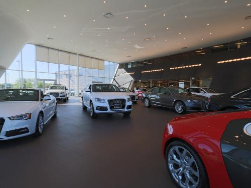 Morton Grove Audi interior showroom