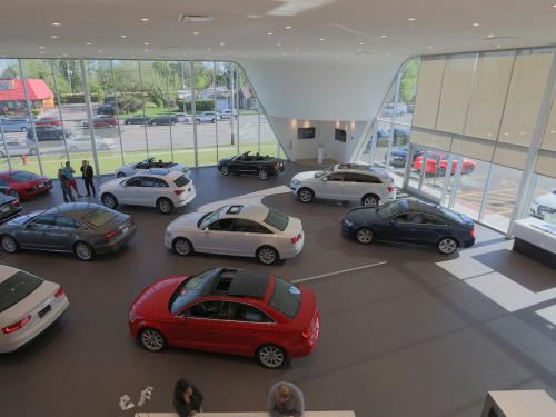 Morton Grove Audi showroom top view
