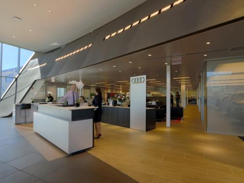 Morton Grove Audi interior welcome desk
