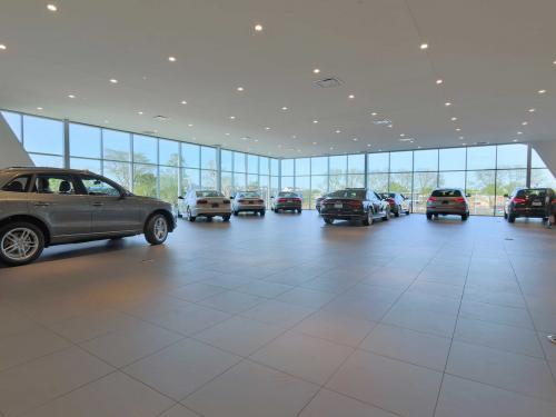 Morton Grove Audi Second level showroom with corner